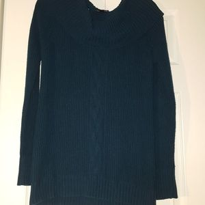 AGB Teal cowl neck sweater Size large EUC
